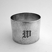 Arts And Crafts Napkin Ring Sterling Silver Shreve 1920
