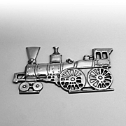 Christmas Locomotive Christmas Ornament Sterling Silver Gorham 1975