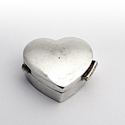 Heart Form Pill Box Sterling Silver Douglas Pell