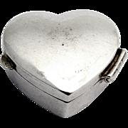 Heart Form Pill Box Sterling Silver Douglas Pell