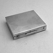 Rectangular Hinged Box Sterling Silver S 1960