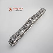 Ornate Niello Belt 84 Standard Silver 1900