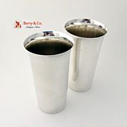 Pair Of Water Cups Sterling Silver International