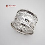 Vintage Openwork Napkin Ring Sterling Silver Webster 1915