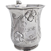 Grape Vine Cup Coin Silver Galt And Brothers 1870