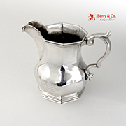 Antique Octagonal Creamer Coin Silver 1846