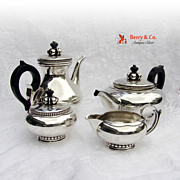 Amazing La Paglia Four Piece Tea And Coffee Set Sterling Silver International 1952