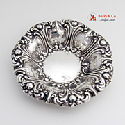 Ornate Repousse Scroll Medium Serving Bowl Sterling Silver Frank M Whiting And Co 1900