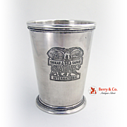 Beaded Commemorative Julep Cup Sterling Silver International 1976