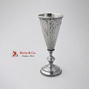 Art Nouveau Russian Vodka Cordial Cup 84 Standard Silver 1915