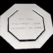 Tiffany Octagonal Commemorative Bookmark Sterling Silver 1976