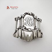 Ribbed Scroll Napkin Ring Sterling Silver Towle 1906