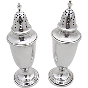 Dolly Madison Salt And Pepper Set Sterling Silver Gorham 1929