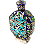 Colorful Perfume Bottle Sterling Silver Enamel