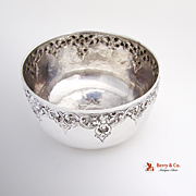 Hand Made Bowl Sterling Silver East Asia 1940