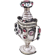 Early 19th Century Ornate Spice Box 800 Silver Rhinestones