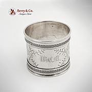 Aesthetic Bird Napkin Ring Coin Silver 1900