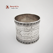 Aesthetic Napkin Ring Coin Silver 1876