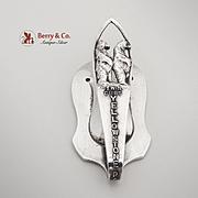 Yellowstone Park Cubs Souvenir Napkin Clip Sterling Silver