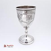 Sterling Silver Goblet Vanderslice San Francisco 1890
