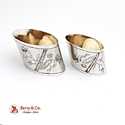 Russian 84 Silver Pair of  Napkin Rings 1910