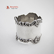 Ornate Sterling Silver napkin Ring Towle 1900