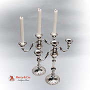 Pair Of Chantilly Duchess Candelabras Sterling Silver Gorham 1950