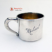 Baby Cup Sterling Silver Web Silver 1950