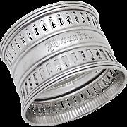 Openwork Napkin Ring Sterling Silver Gorham 1940