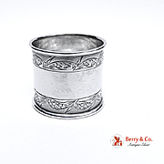 Aesthetic Coin Silver Napkin Ring 1890
