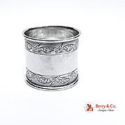 Aesthetic Coin Silver Napkin Ring 1890