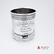 Sterling Silver Cup Scroll Gorham 1882