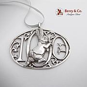 De Matteo Figural Rabbit Openwork Christmas Ornament Sterling Silver
