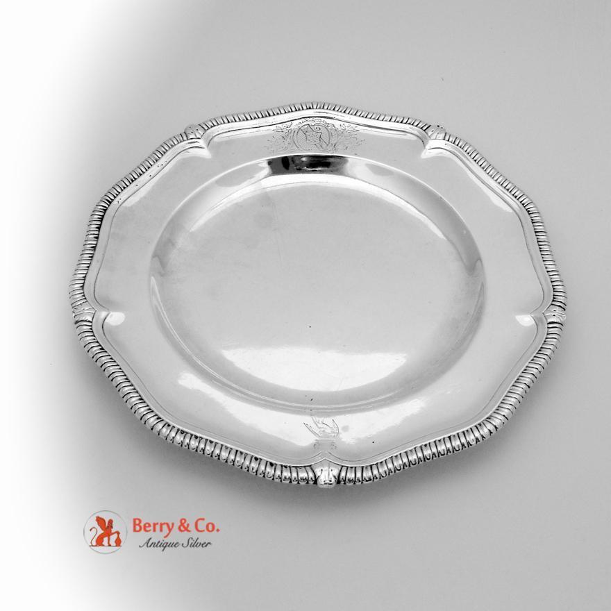 gadrooned charger plate peter archambo ii peter meure sterling silver london
