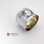 German Repousse Napkin Ring 800 Silver 1900