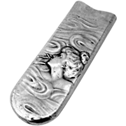 Art Nouveau Smoking Lady Comb Holder Sterling Silver 1910
