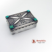 Unique Hand Made Navajo Box Sterling Silver Turquoise 1950