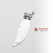 Peruvian Llama Bookmark Letter Opener Sterling Silver 1960