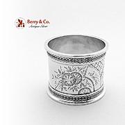 Aesthetic Bird Napkin Ring Coin Silver 1870