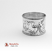 Classical Revival Napkin Ring Sterling Silver Jehoiada Alsop Rhodes 1874