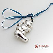 Praying Bear Christmas Ornament Sterling Silver R M Trush 1985