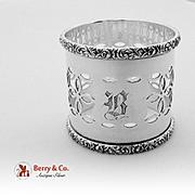 Large Openwork Napkin Ring Sterling Silver Gorham 1896