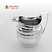 Georgian Helmet Form Creamer Sterling Silver 1800