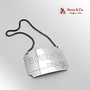 Concorde Bourbon Bottle Tag Sterling Silver British Airways 1986