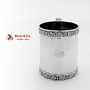 Georgian Grape Vine Mug Sterling Silver Joseph Ash I 1812
