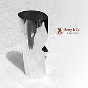 Unique Modernist Oval Face Vase Sterling Silver JAT 1990
