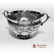 Hand Made Ornate Centerpiece Bowl 900 Silver E Perez 1905