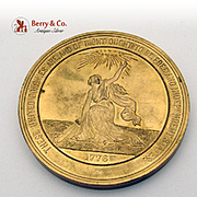 100Th Anniversary Of American Independence Medal Gilt Bronze Us Mint 1874