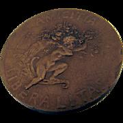 Amis De Artistes Bronze Medal France 1900