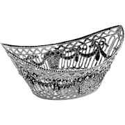 Oval Openwork Sweetmeat Basket German 800 Silver 1900